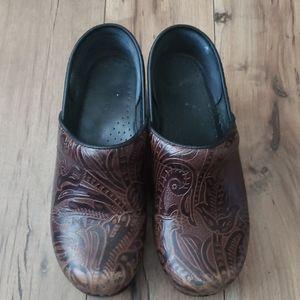 Brown Dansko mules